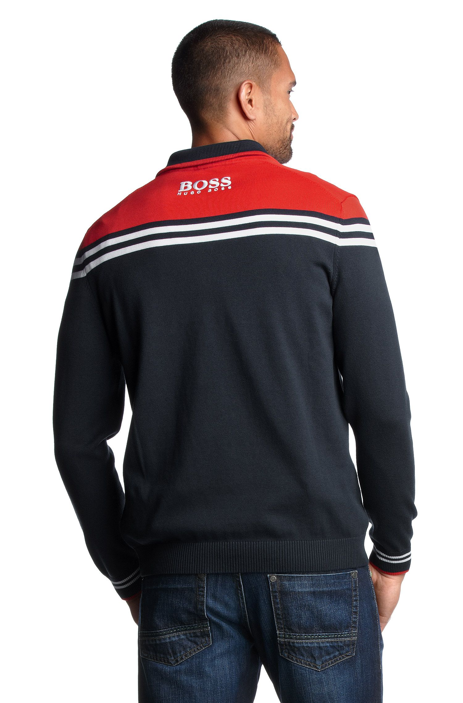Pull-over de golf rayé, Zelchior Pro