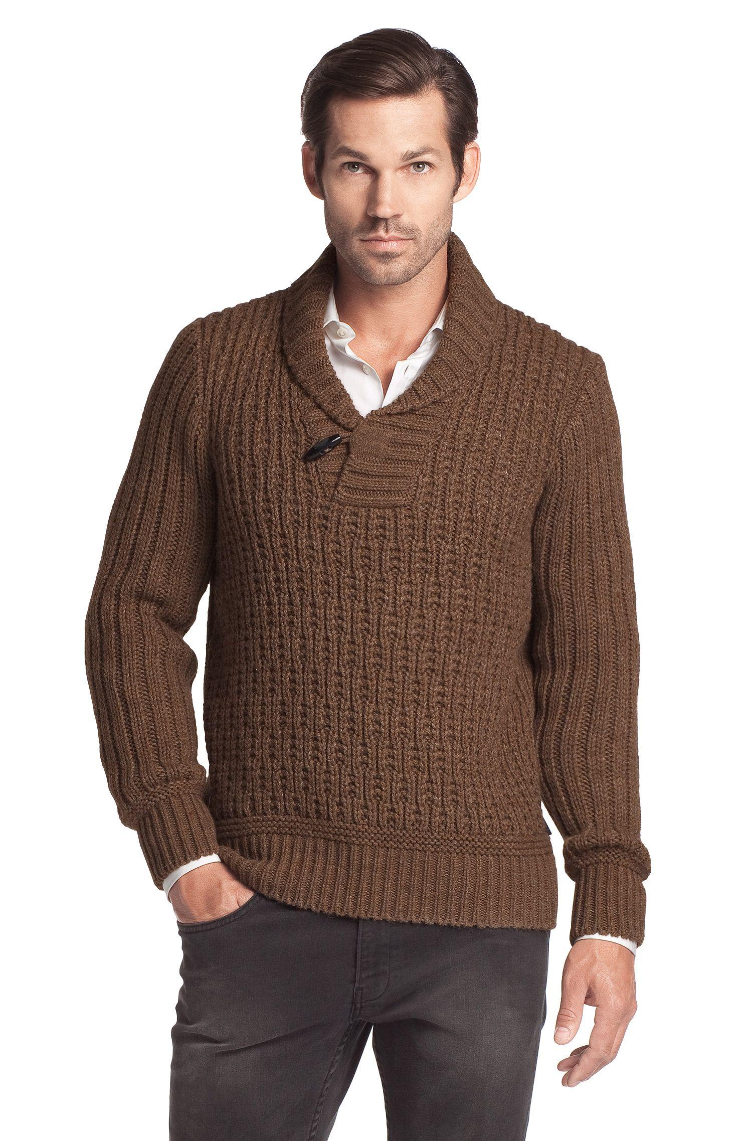 Pull-over en maille de laine mélangée, Lincen