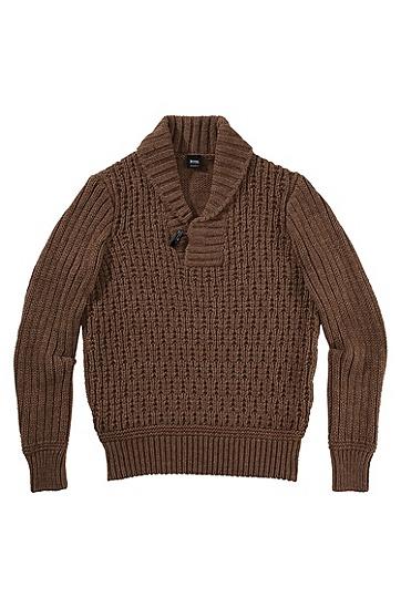 Strickpullover ´Lincen` aus Woll-Mix, Khaki