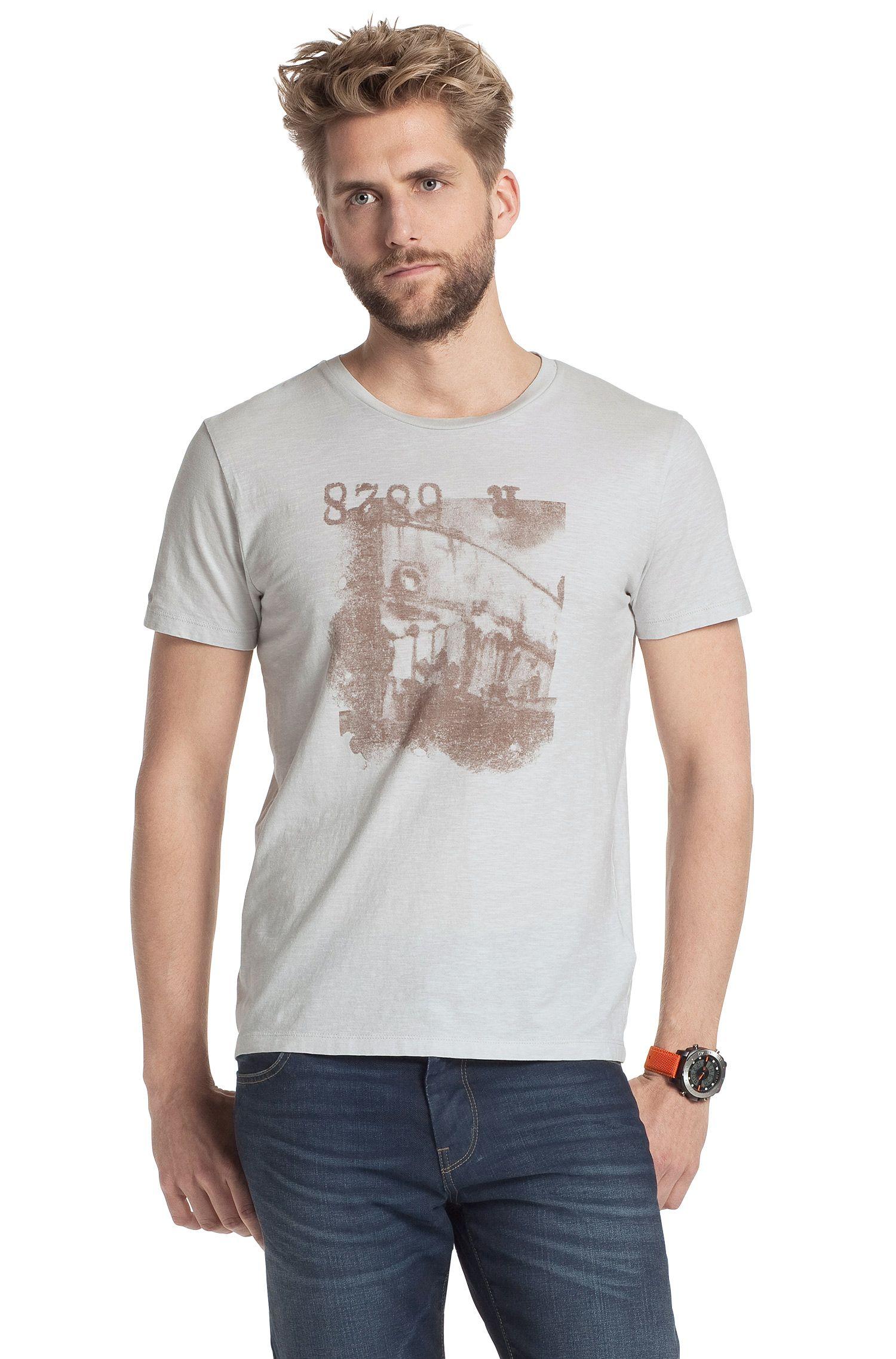 Rundhals-Shirt ´Tasko` mit großem Print-Motiv
