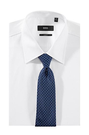 Krawatte ´Tie 7,5 cm` aus reiner Seide, Dunkelblau