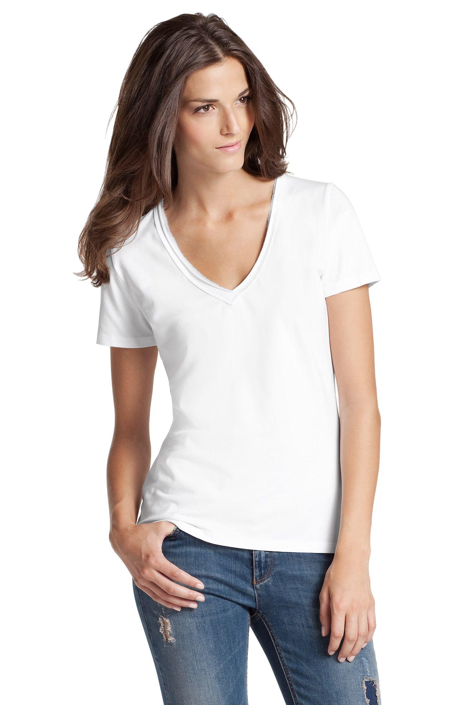 T-Shirt ´Vienis` mit V-Ausschnitt