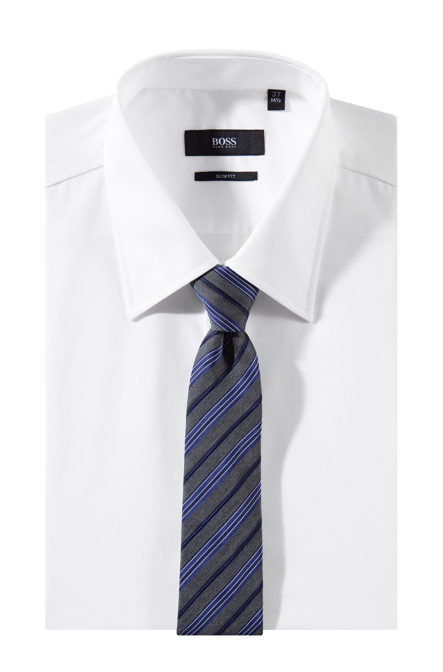 Cravate à motif à rayures, Tie 6 cm