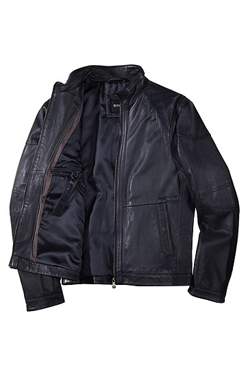 Outdoor-Jacke ´Nikson` aus Lammleder, Dunkelblau