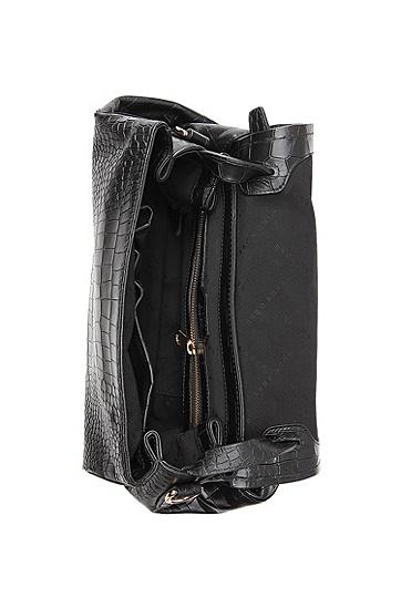 Handtas ´Calanthia-C` van kalfsleer, Zwart