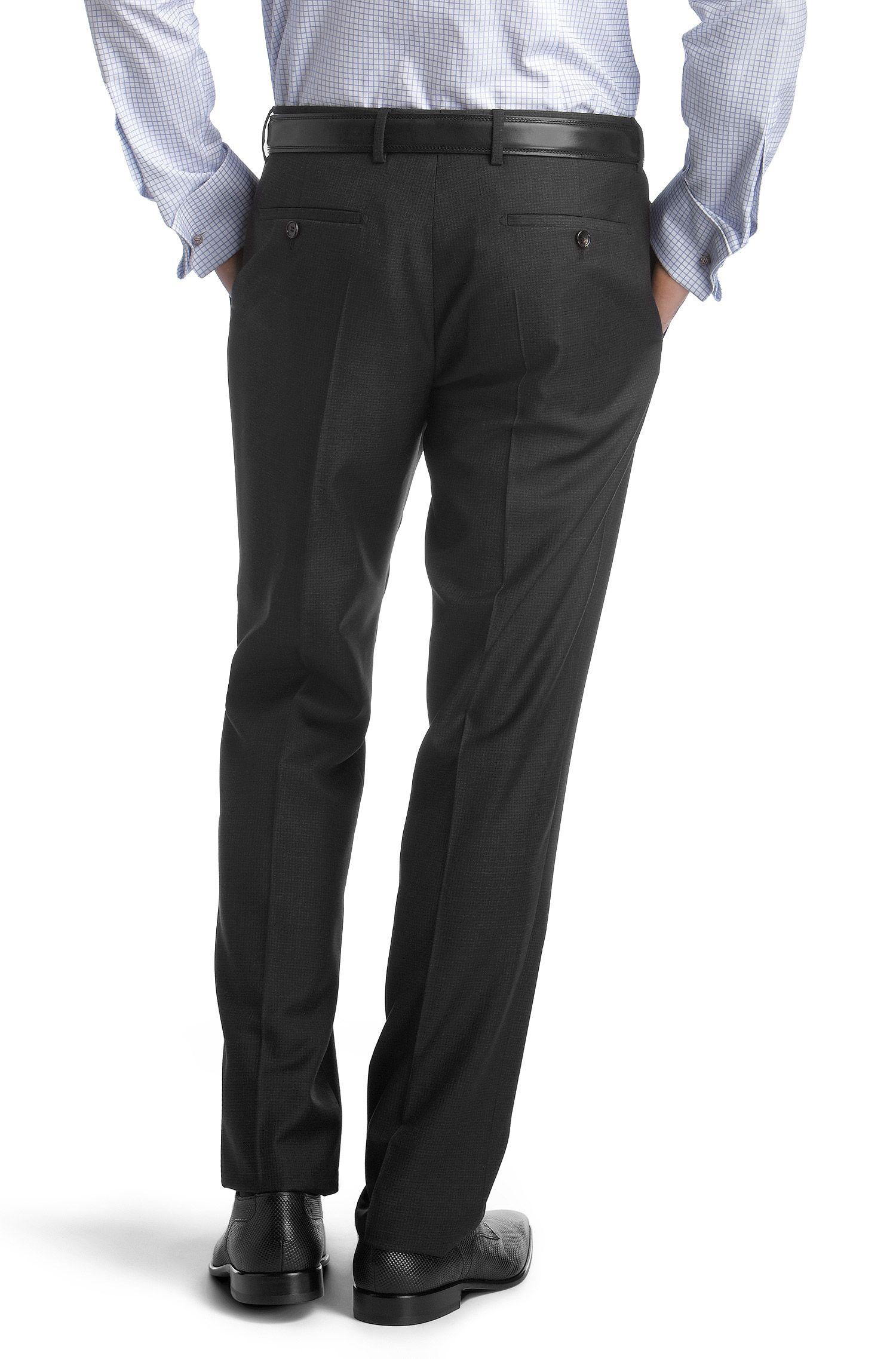 Pantalon de costume en belle laine vierge, Court