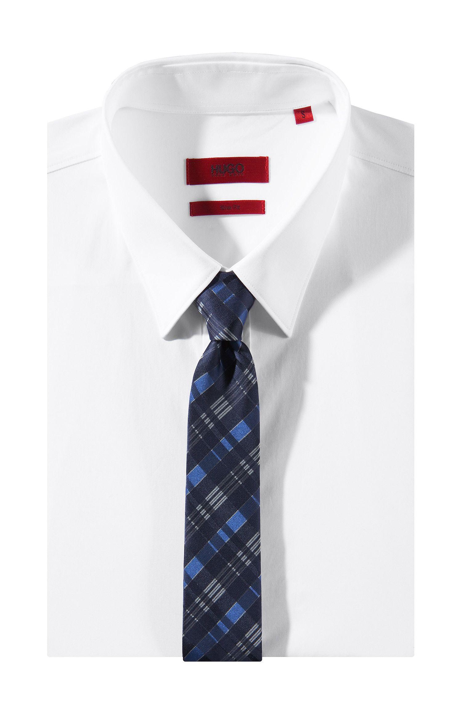 Cravate en soie lisse, Tie 6 cm