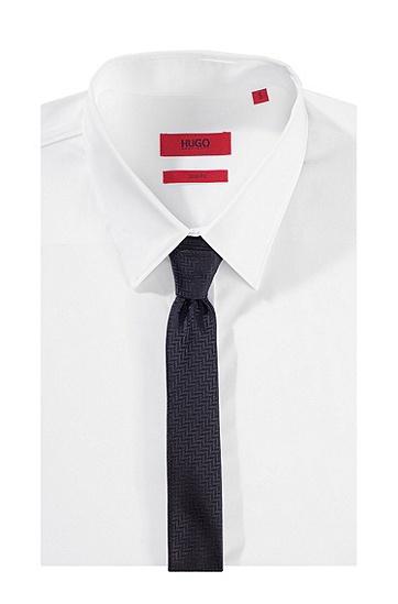 Krawatte ´Tie 4,5 cm` aus Seide, Grau