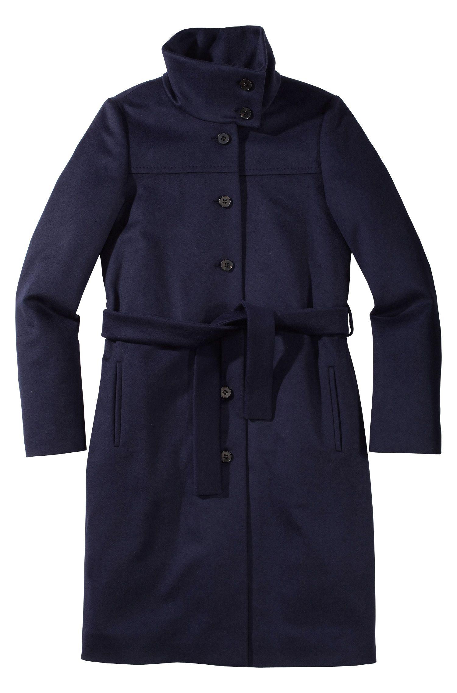 Mantel ´Clamin` mit breitem Stehkragen