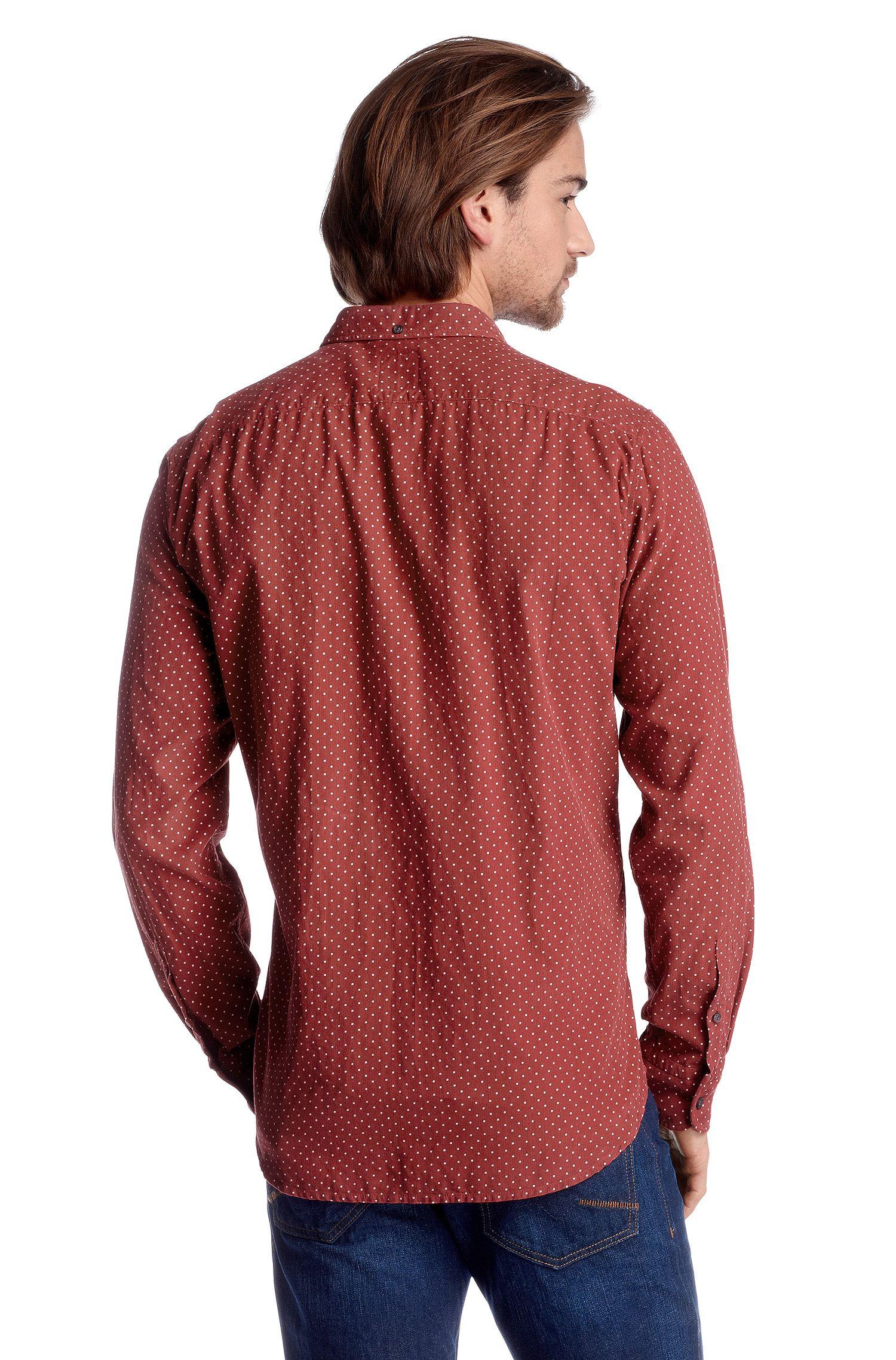 Gepunktetes Freizeit-Hemd ´Equator` aus Baumwoll