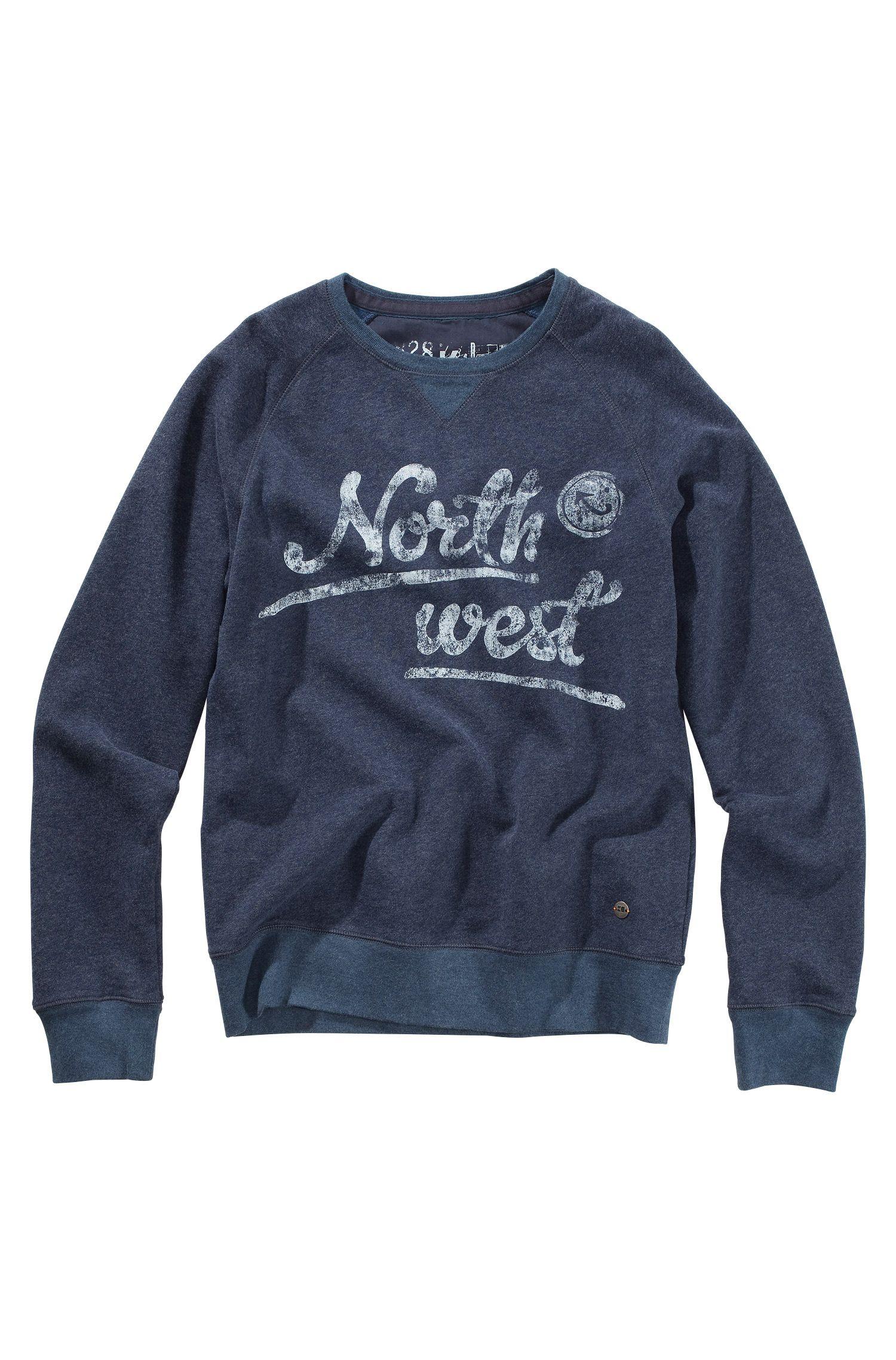 Sweatshirt ´Wic` met print op de borst