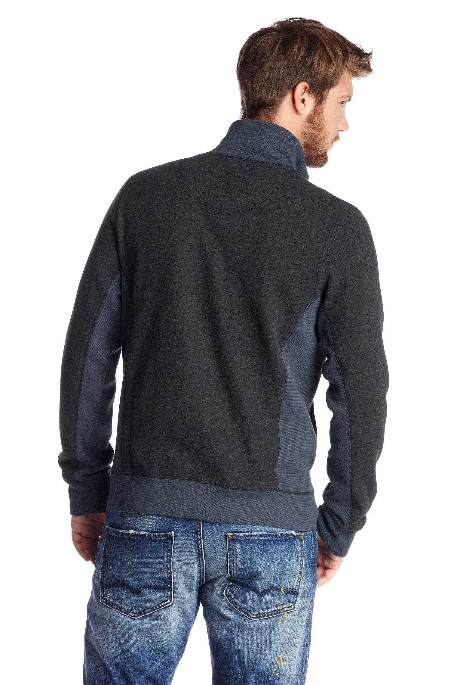 Sweatshirt-Jacke ´Zparks` mit Stehkragen.