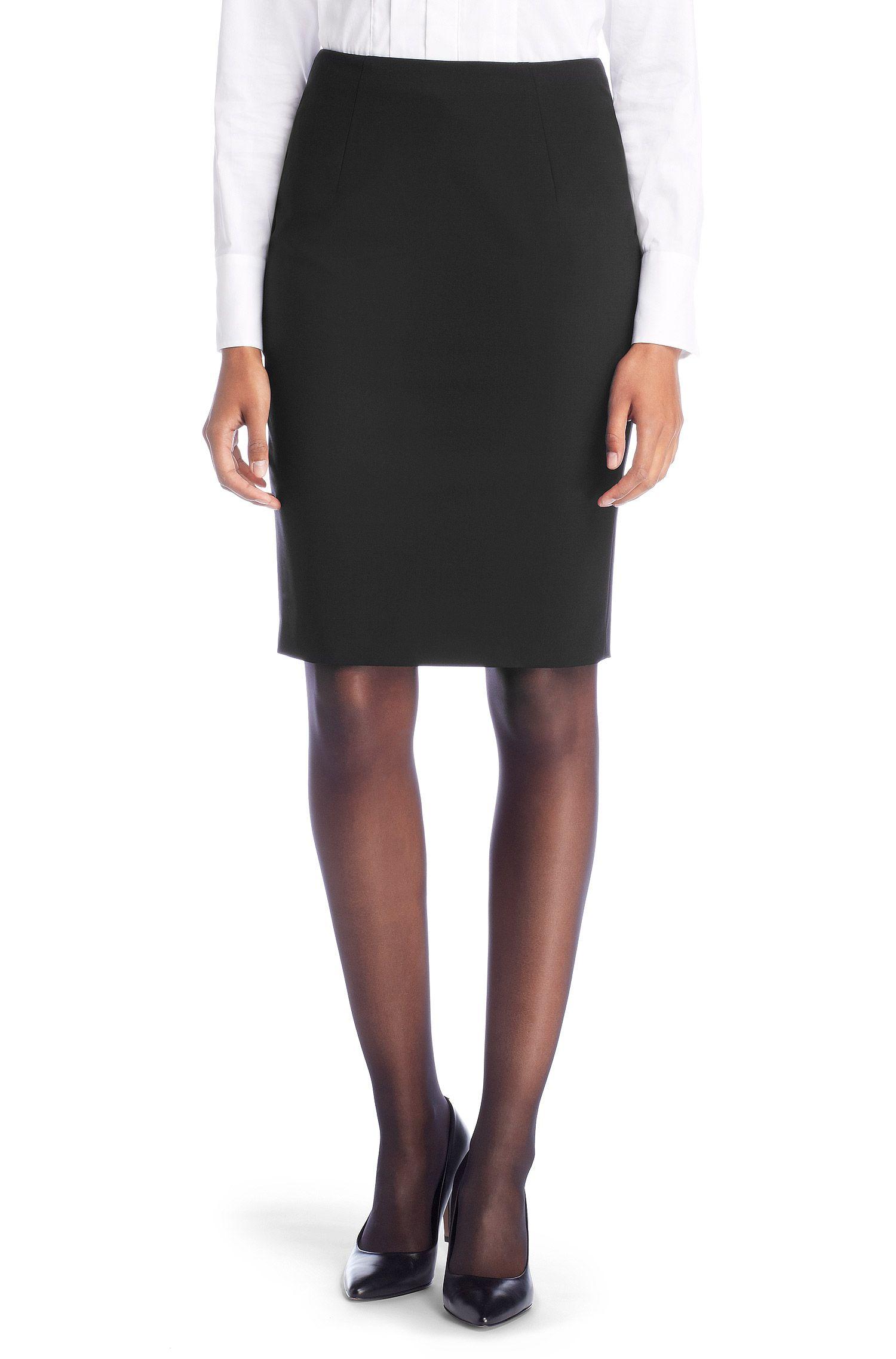 Sheath skirt `Vilina1` in new wool with elastane Image
