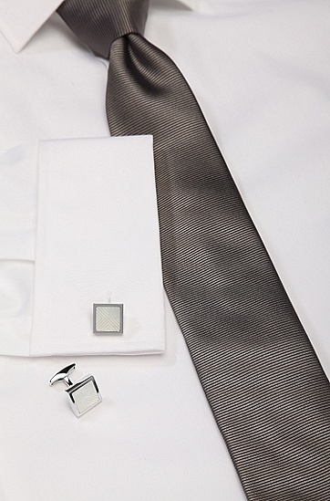 Manschettenknöpfe ´Ayton` mit Perlmutt-Einsatz, Weiß