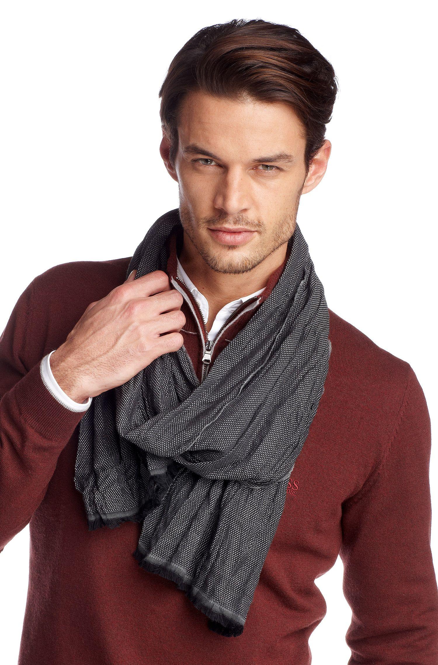 Écharpe en laine et viscose, Scarf 180 x 40 cm