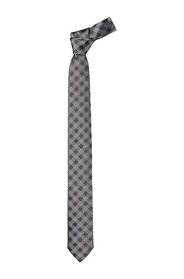 Karokrawatte ´Tie 6cm` mit Einsteckschlaufe, Hellgrau