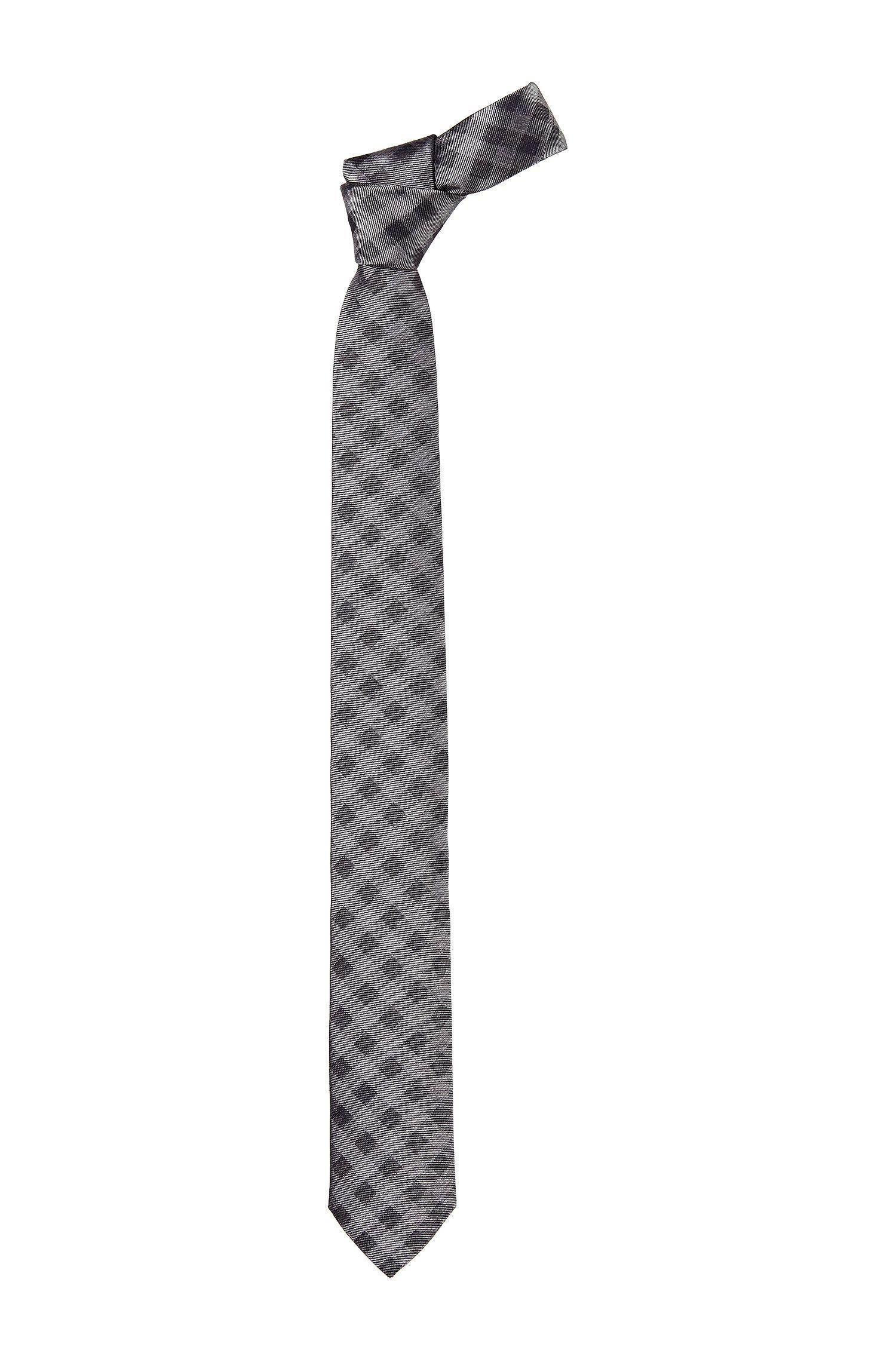 Cravate à carreaux munie d'un passant, Tie 6cm