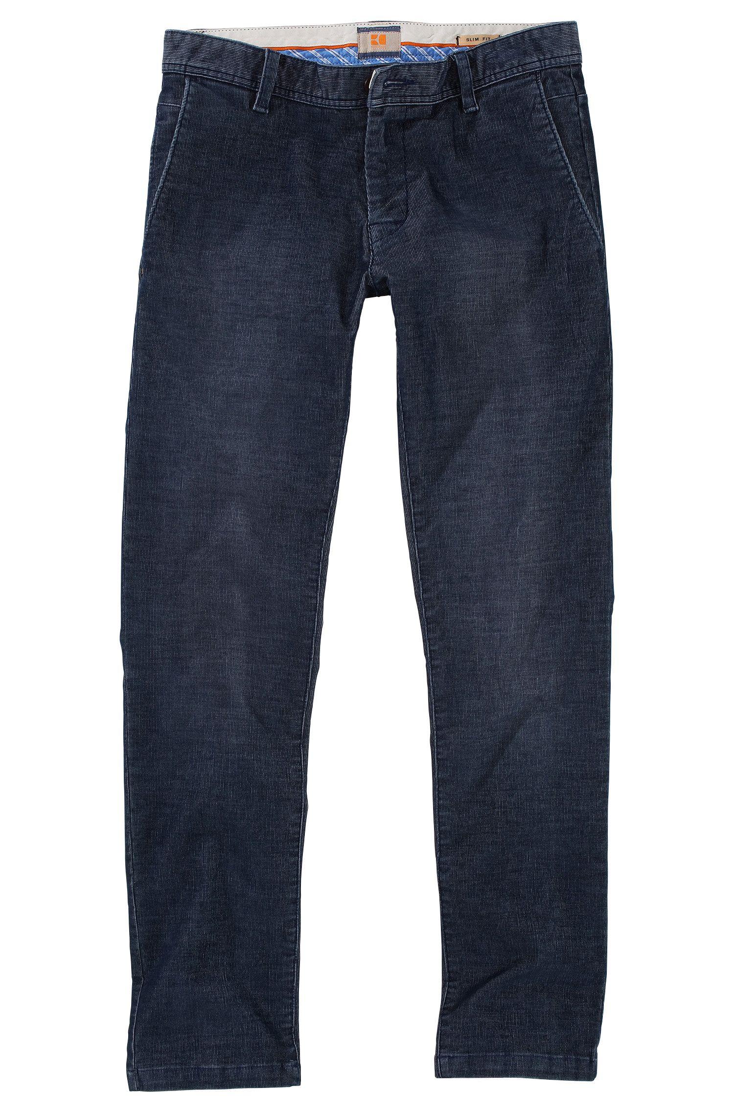 Pantalon Slim Fit en velours côtelé, Sairy3-W