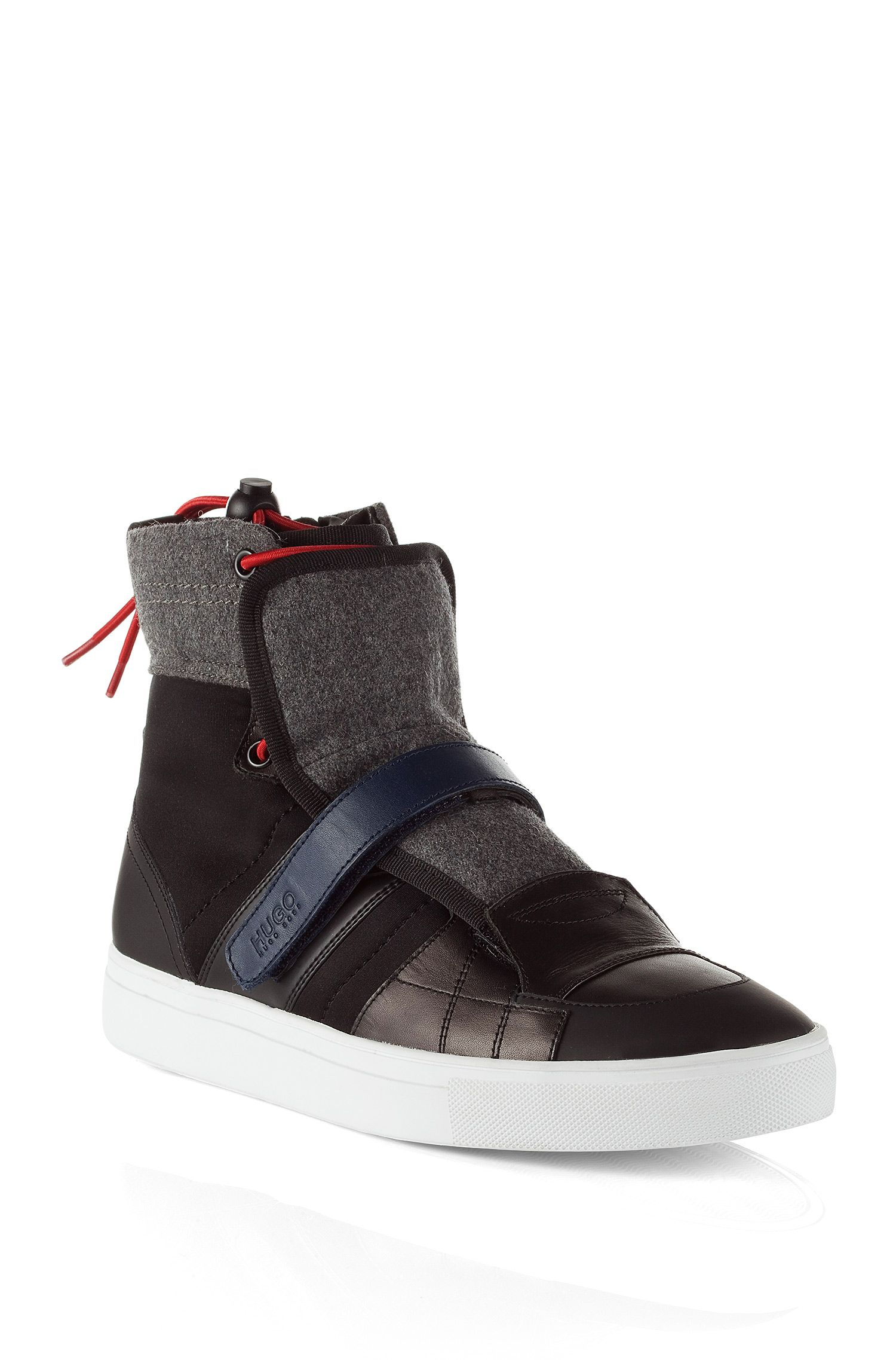 High Top Sneaker ´Furtio` im Material-Mix