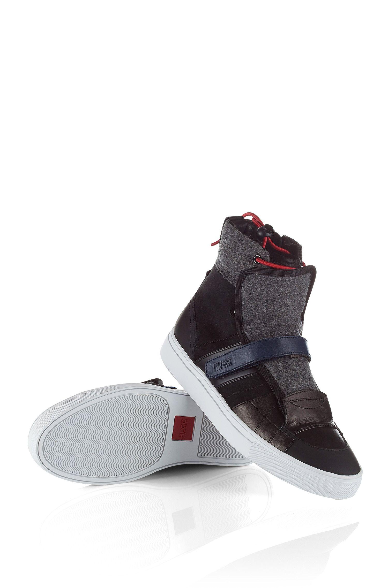 High Top sneakers ´Furtio` van een materiaalmix