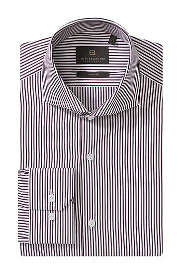 Shaped-Fit Business-Hemd ´Christo`, Dunkelrot