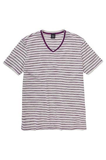 T-Shirt ´Eraldo 49` aus reiner Pima-Baumwolle, Dunkelrosa
