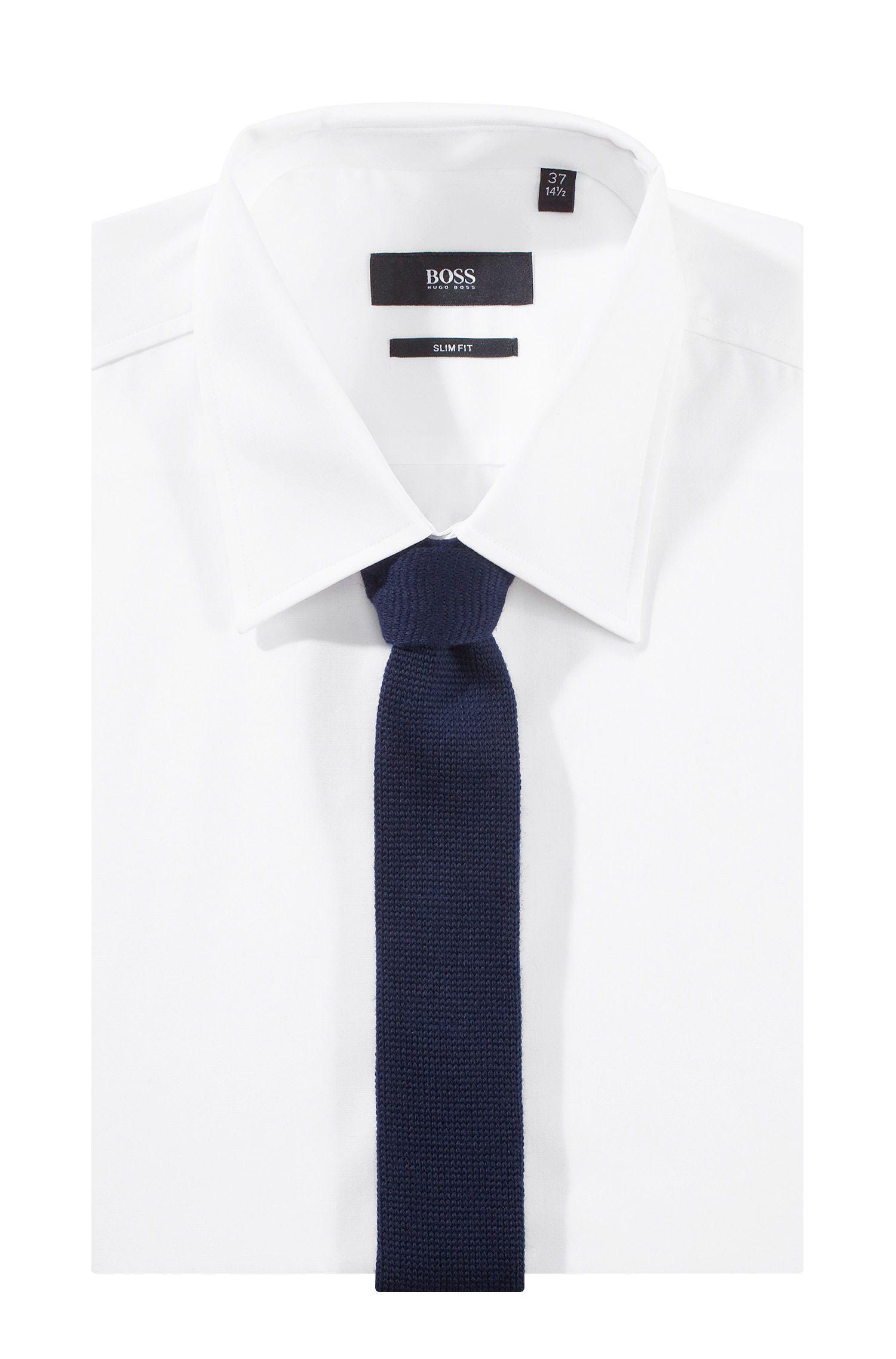 Cravate en laine, Tie 5 cm knitted