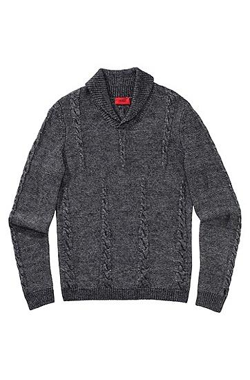 Strickpullover ´Shakespeare` aus Modal-Woll Mix, Schwarz