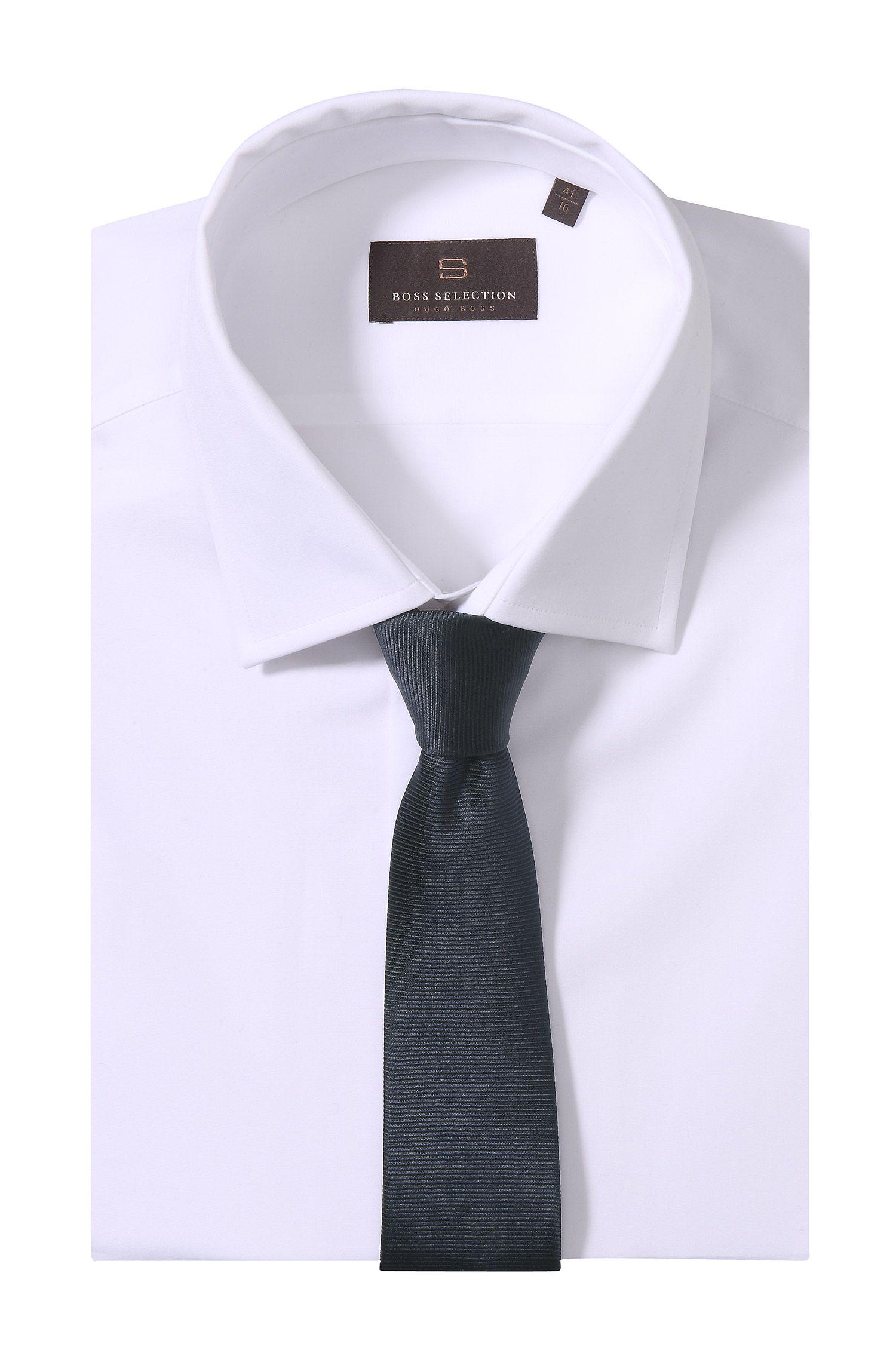Cravate en soie à rayures horizontales, Tie 6cm