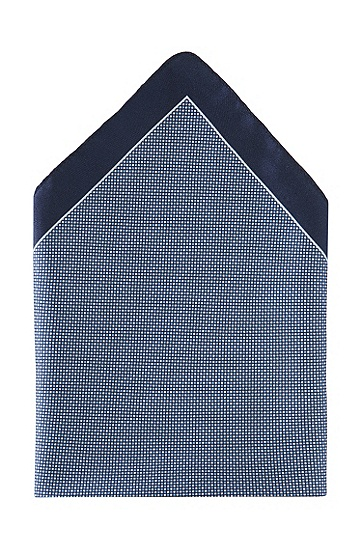Einstecktuch ´Pocket square 33 x 33` aus Seide, Dunkelblau