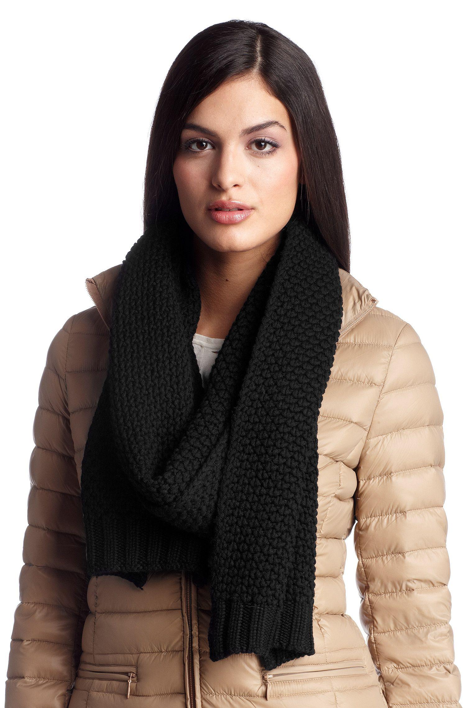 Gebreide sjaal ´SC488` van zuivere scheerwol