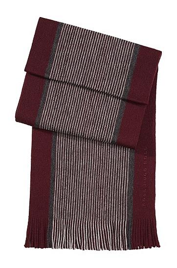 Schal ´Farold` aus Schurwolle, Dunkelrot