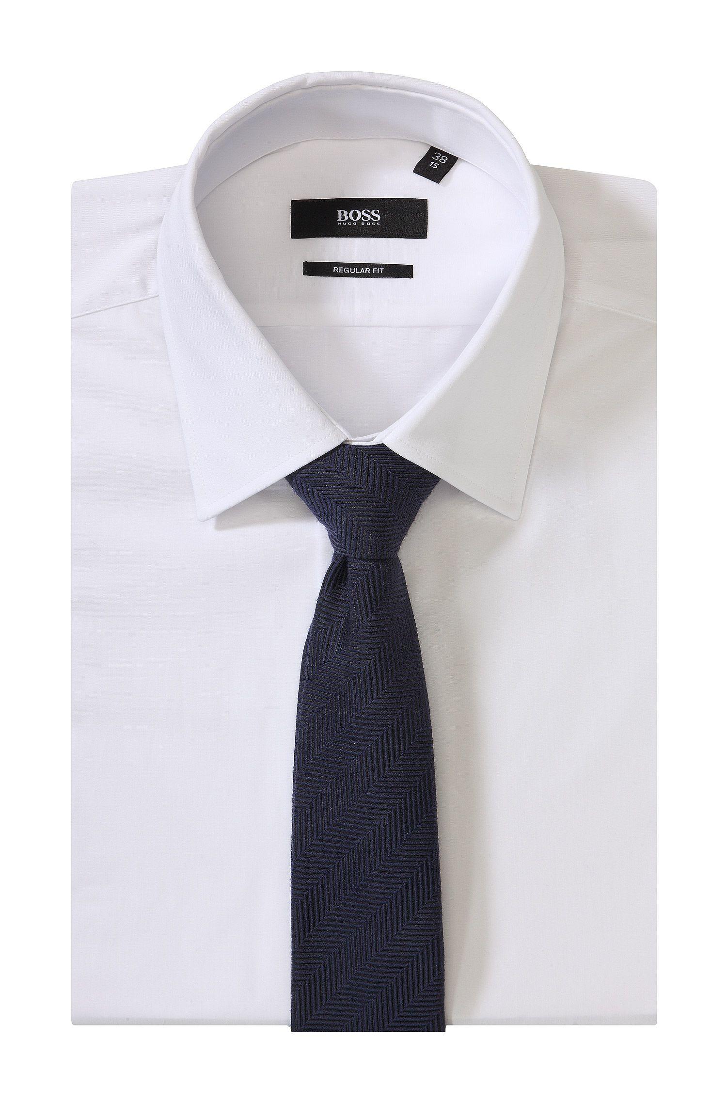 Krawatte ´Tie 6 cm` aus Wolle-Seiden-Mix