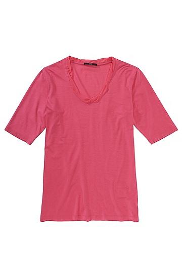 T-Shirt ´E4637` mit halbem Ärmel, Hellrot