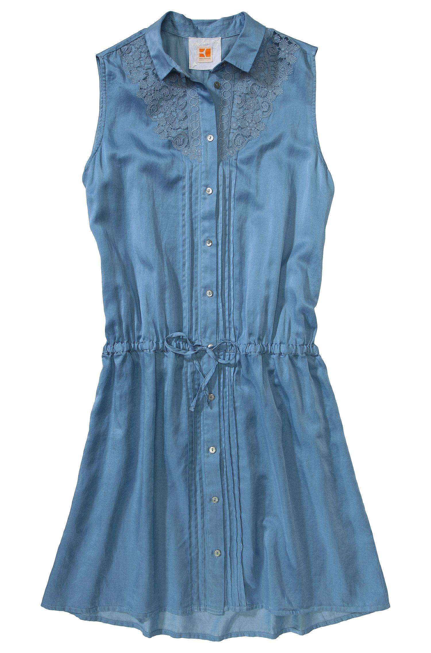 Lange blouse ´Elovette` in een zijde-katoenmix