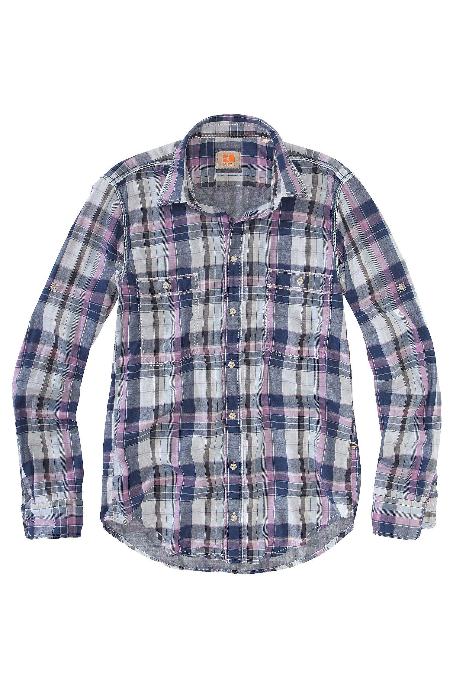 Chemise détente à deux poches-poitrine, CalifoE