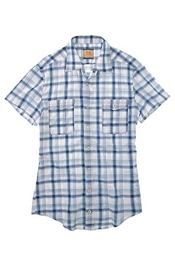 Freizeit-Hemd ´CasoE` mit Kentkragen, Blau