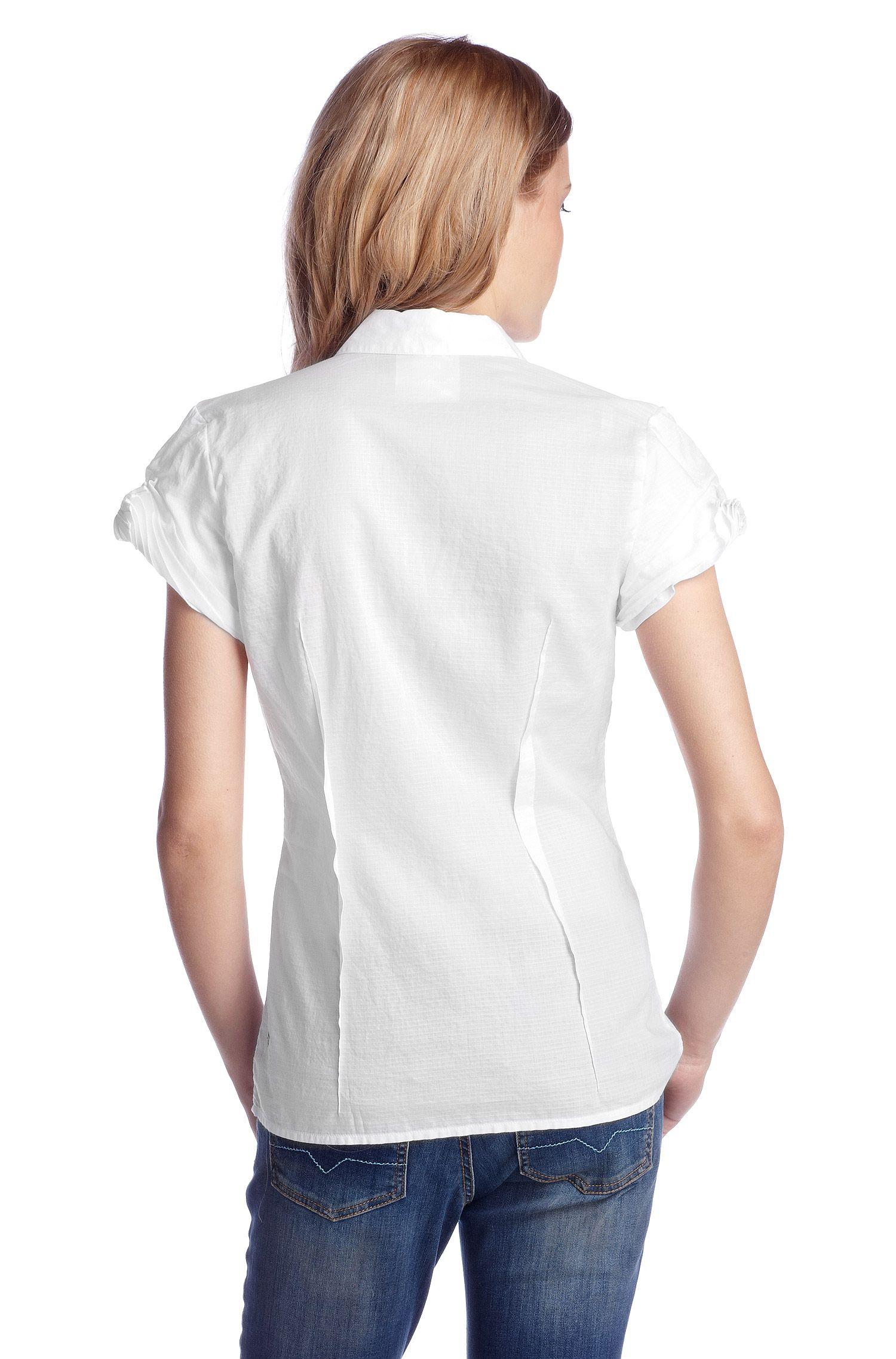Bluse ´Elodiee_1` mit Kurzarm und Kentkragen