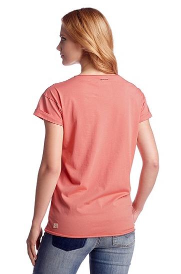 T-Shirt ´Talma` mit geschnittenen Kanten, Hellrot