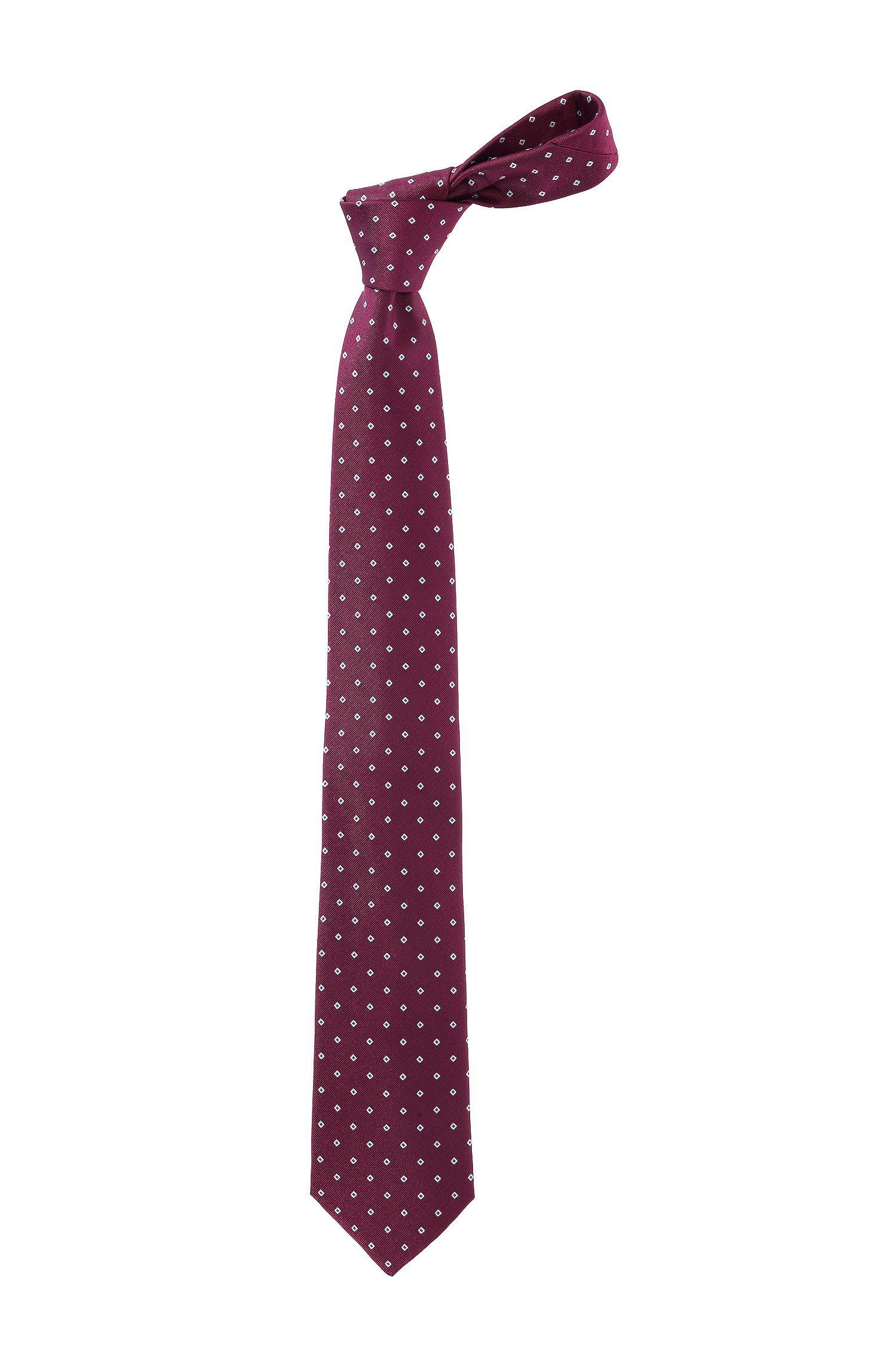Krawatte ´Tie 7,5 cm traveller` aus reiner Seide