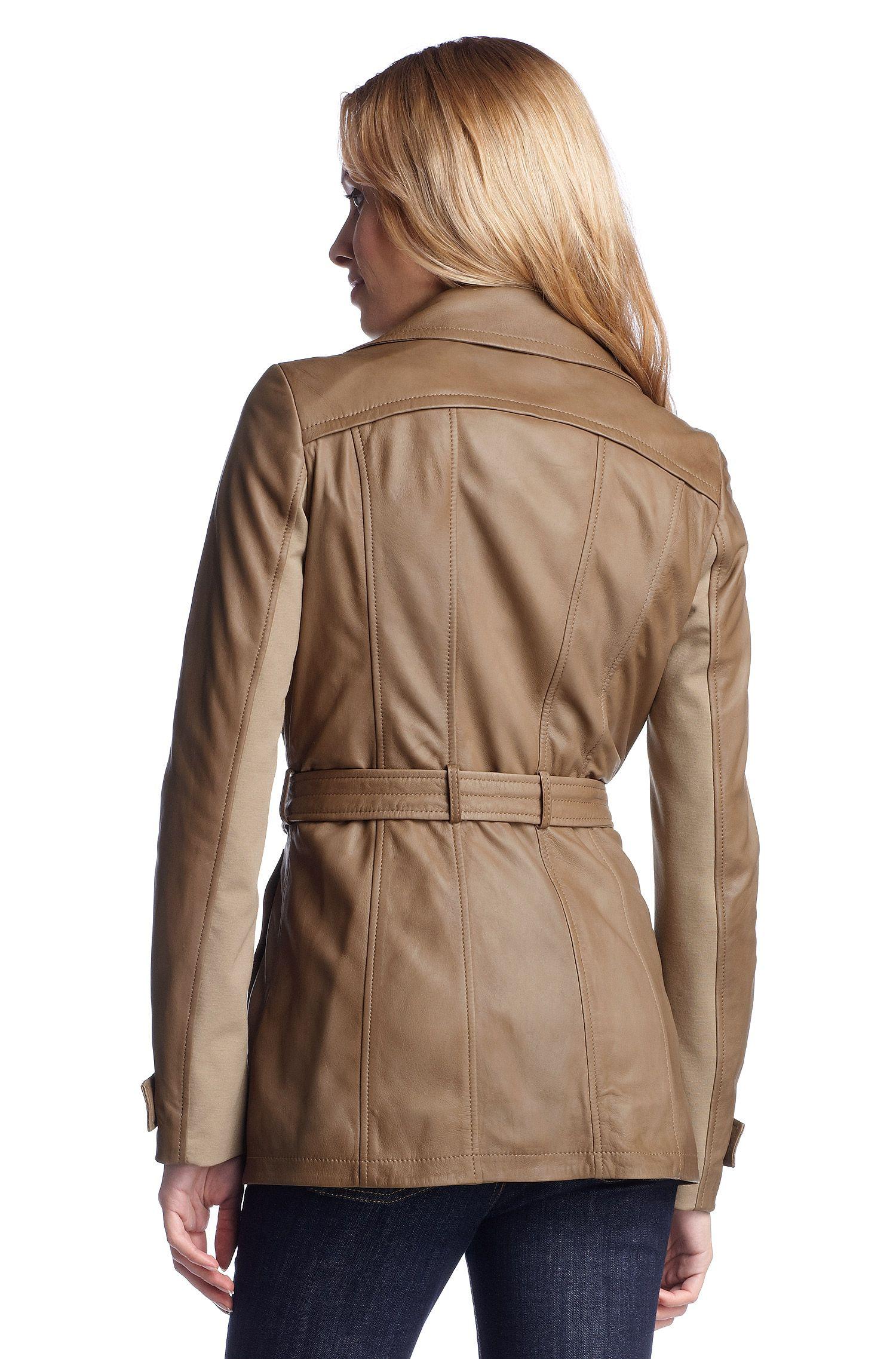 Trench-coat en cuir d'agneau, Jarmila
