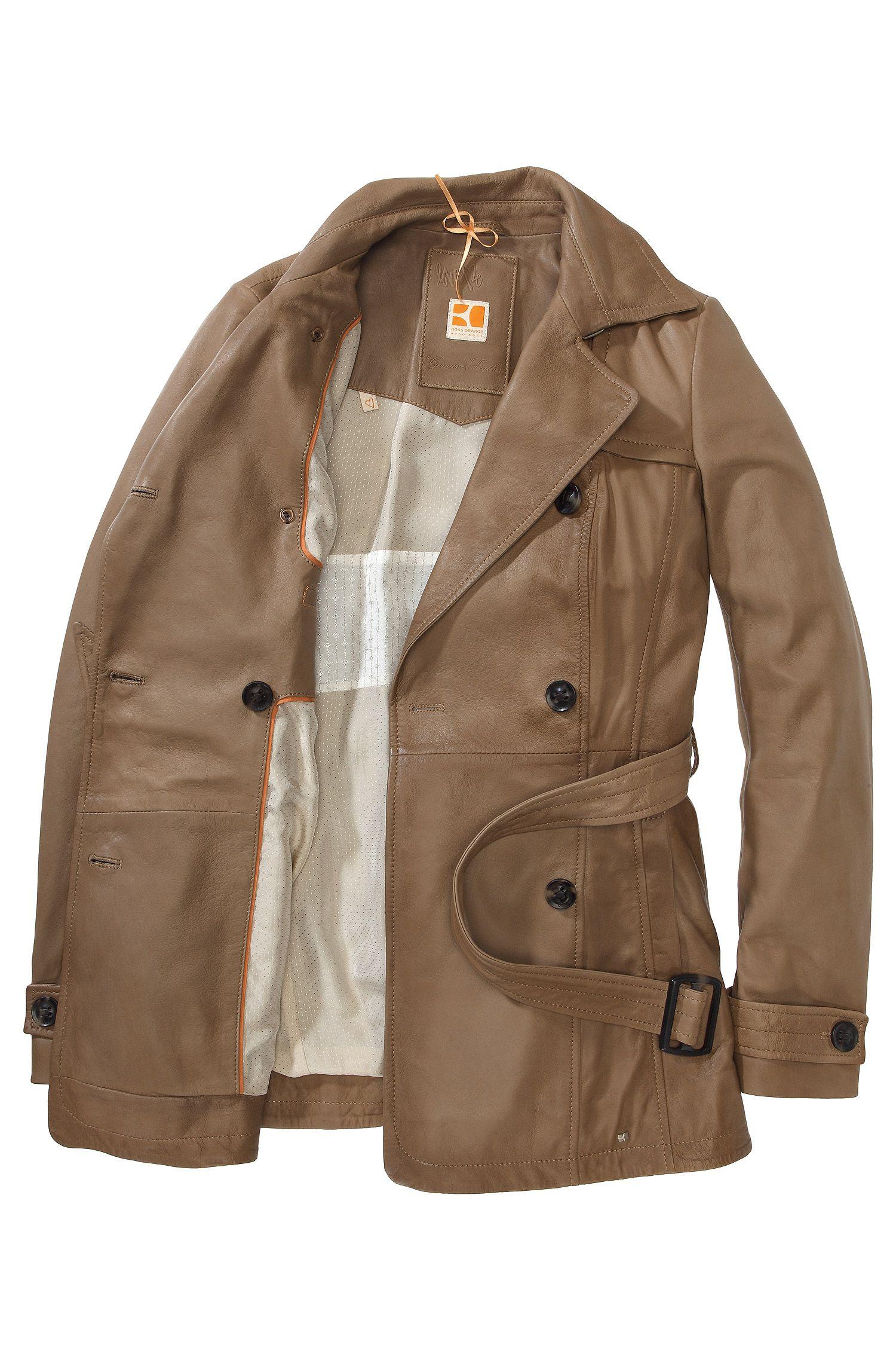 Trench-Coat ´Jarmila` aus Lammleder