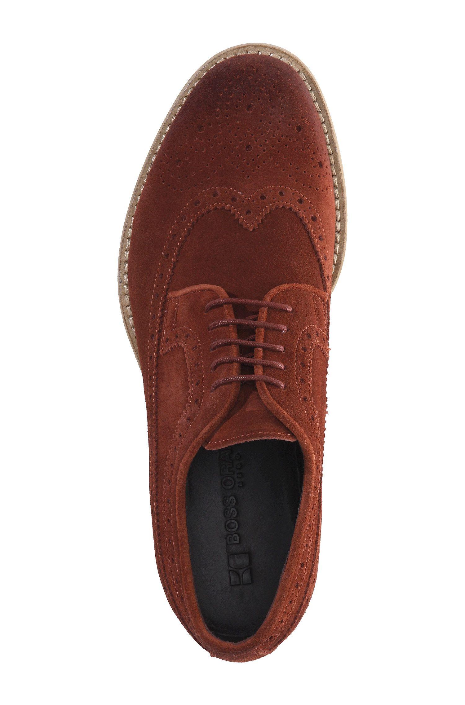 Chaussures à lacets en cuir velours, Ofero