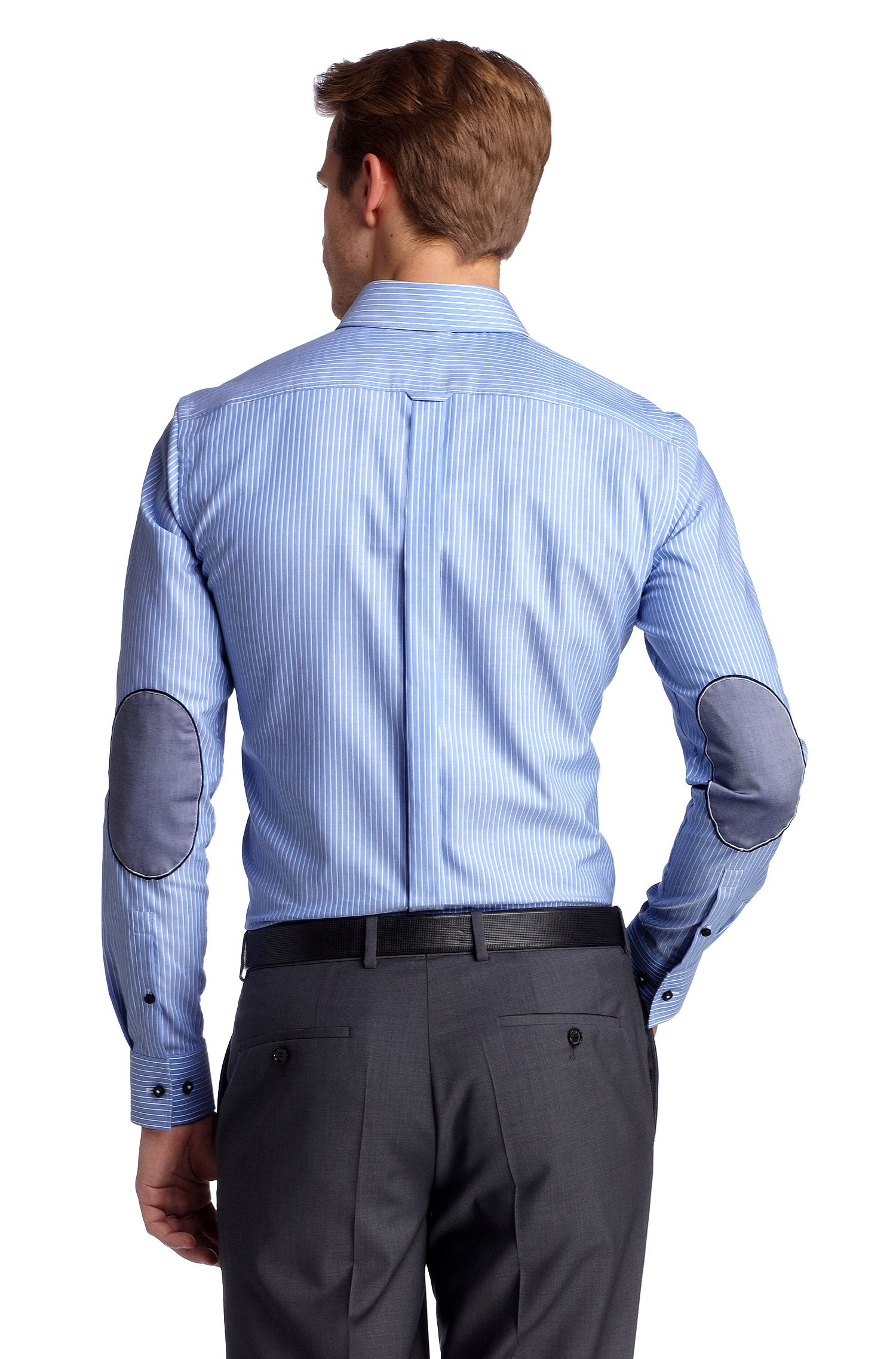 Chemise business à rayures, coupe Slim Fit, Jask