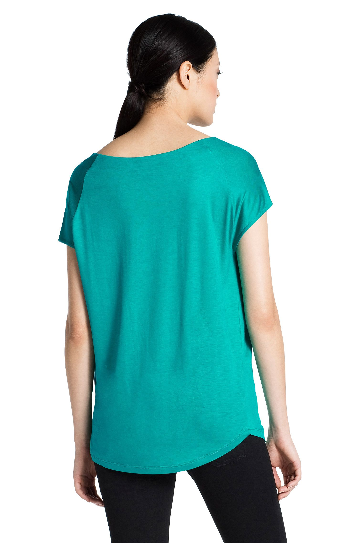 T-shirt en jersey de viscose, Niberi