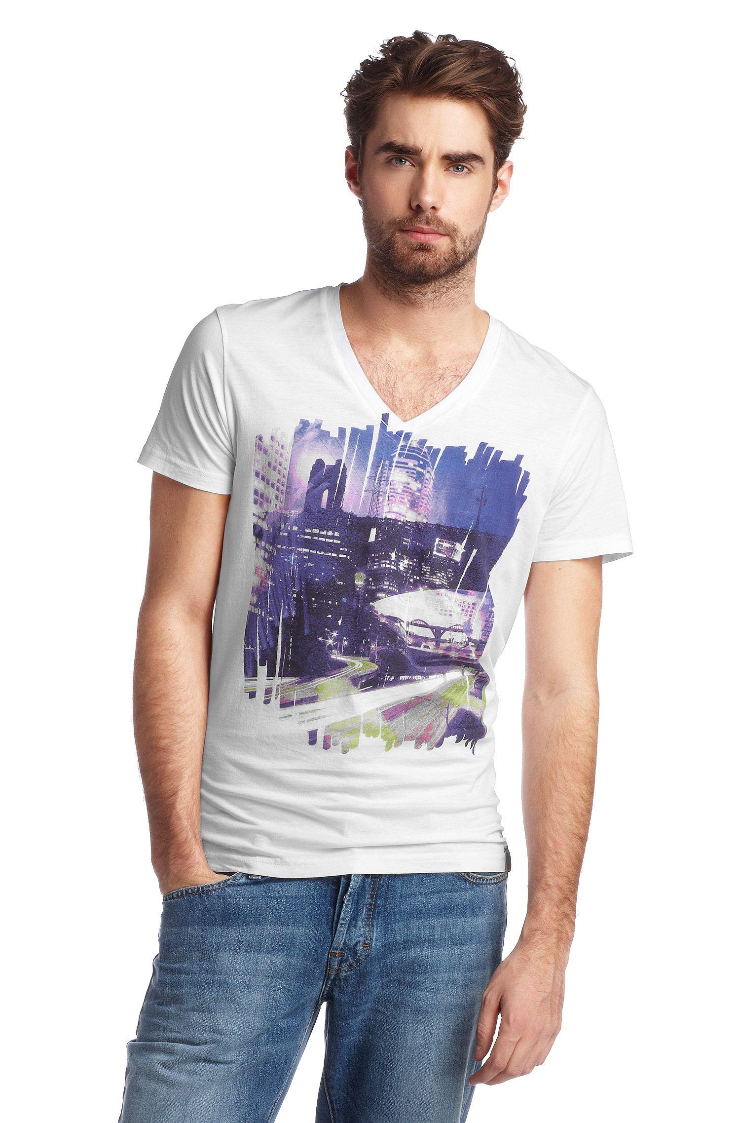 T-shirt ´Tryon` met V-hals