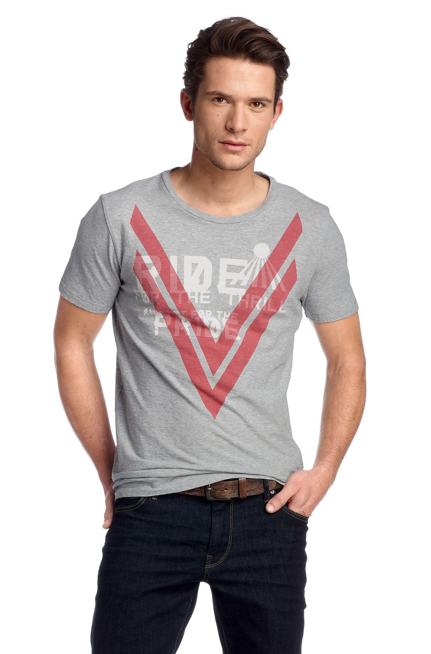 T-shirt ´Terell 2` met ronde hals