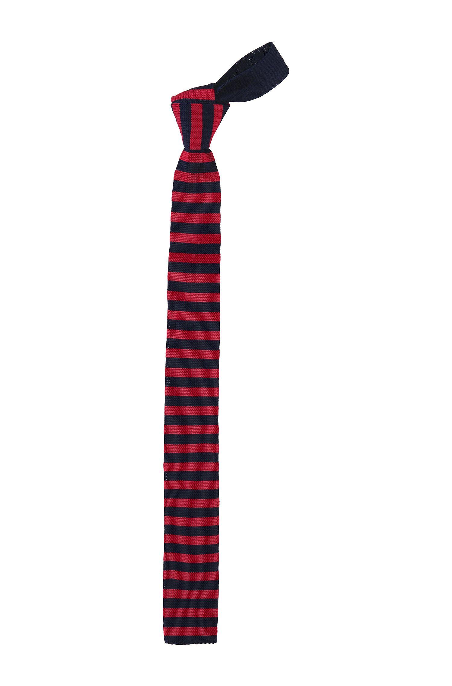 Das ´Tie 5 cm knitted` van gebreid katoen
