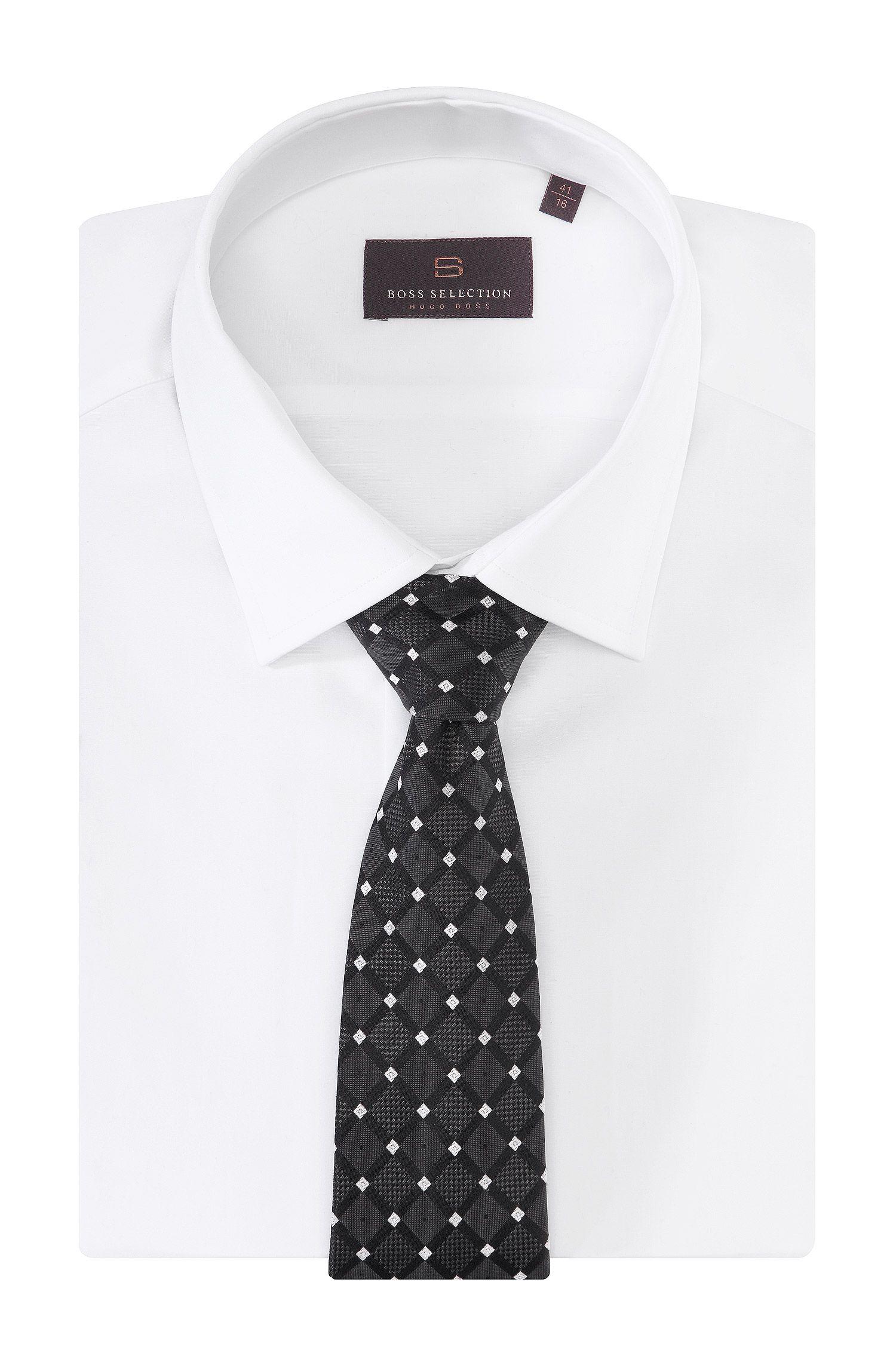 Krawatte ´TIE CM 8` im Rauten-Dessin
