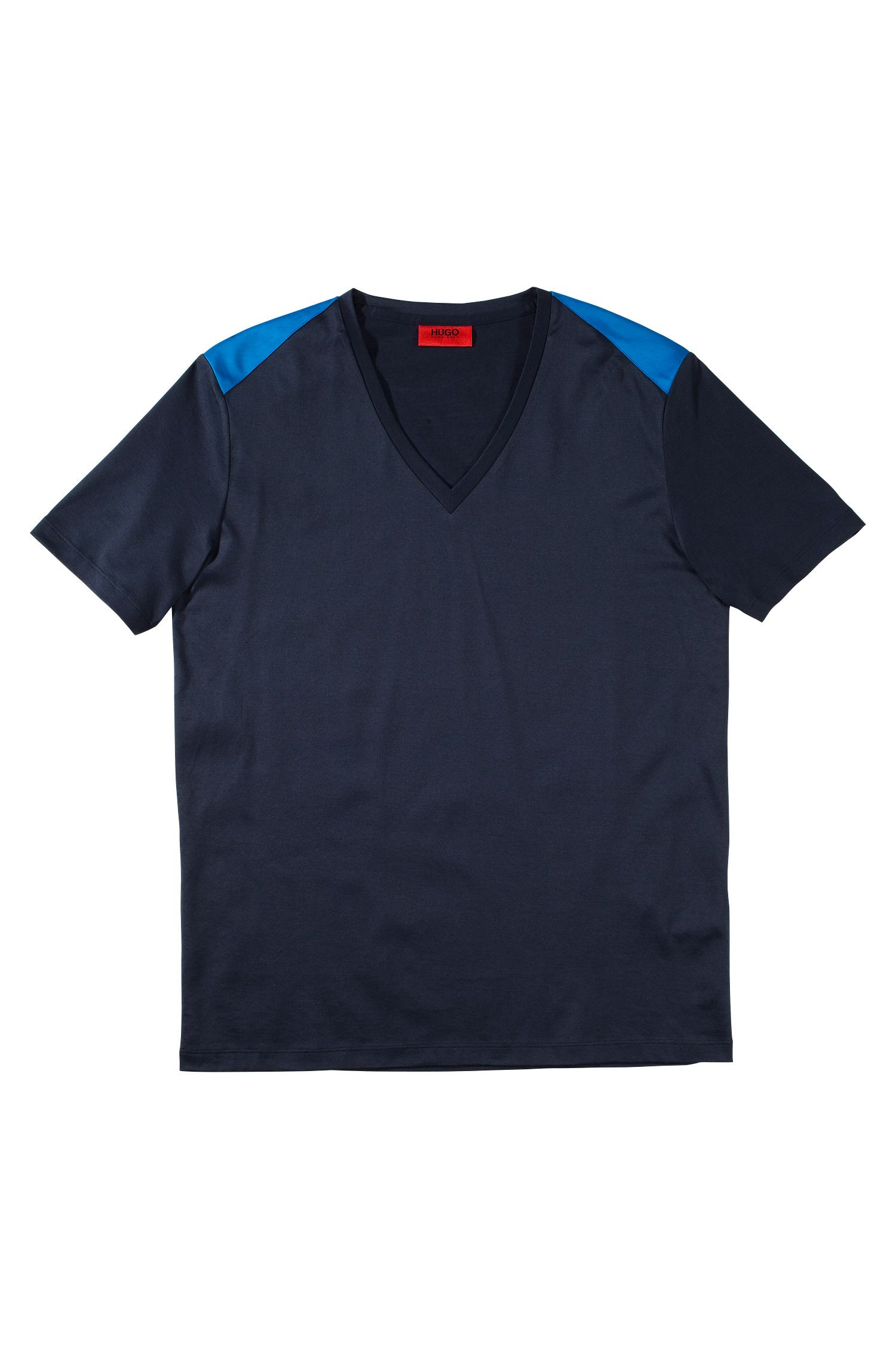 T-shirt à encolure en V, Drapple